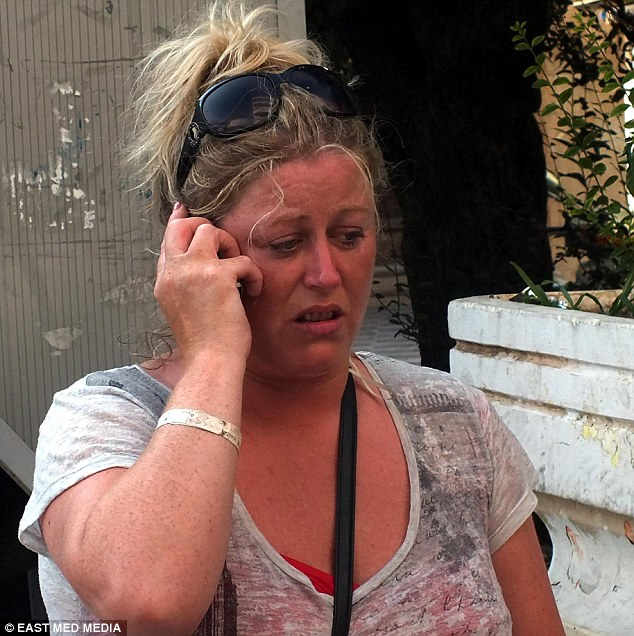 Distraught: Faye's mother Rhonda has been frantically searching for her ever since she went missing in Marmaris