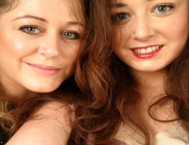 Frantic: Miss Jones, pictured with Faye, says she has been searching the resort day and night