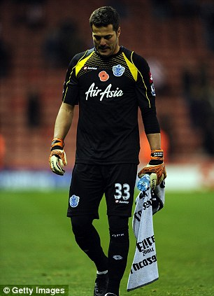 Down and out: Despite producing good performances, Julio Cesar was relegated with QPR