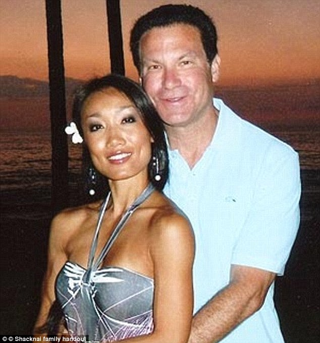 Police say Rebecca Zahau, seen here with boyfriend Jonah Shacknai, 54, killed herself because she was distraught over the mortal injury Shacknai's son received when he fell while she was home
