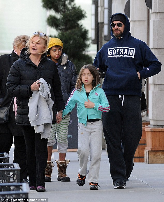 Hugh Jackman with wife Deborra-Lee Furness and their two children