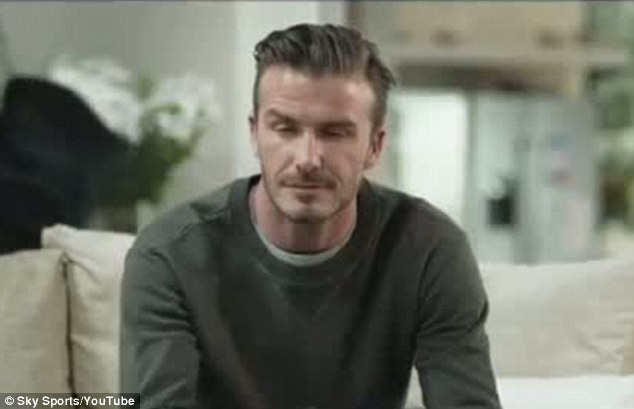 Becks looks good in the new advert for Sky
