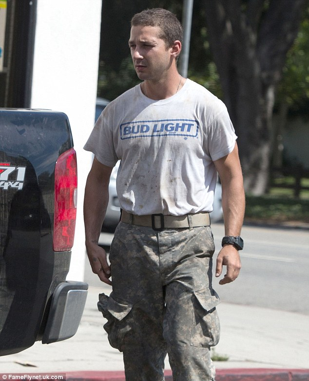 Commando: Shia has been spotted wearing the same gear for three days in a row