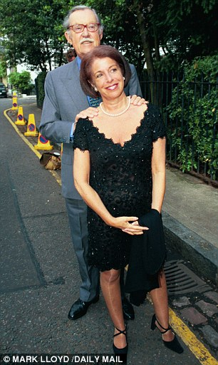 Couple: Alan Whicker in 1999 with his long-term partner Valerie Kleeman, 24 years his junior