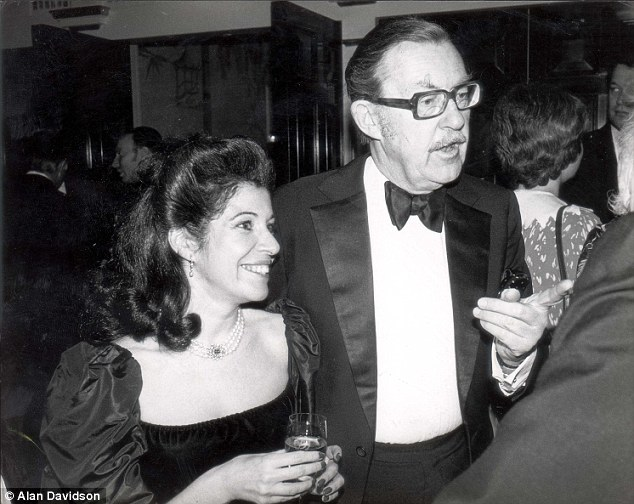 Disguising his age: Whicker (pictured with Kleeman in this undated photograph) gave his birthdate as August 2, 1925 when first asked by Who's Who for his personal details