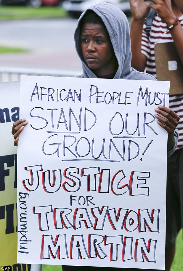 Protest: The Zimmerman verdict has led to protests across the U.S.