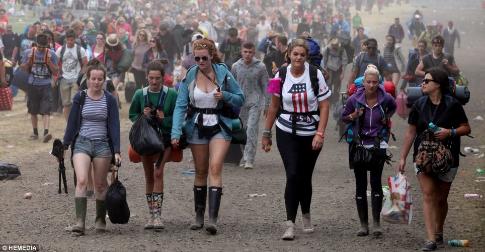 After a sunny weekend at T In The Park, the crowds packed up their belongings and headed back to their homes
