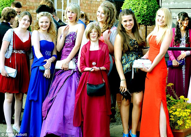 Having a ball: Terri Calvesbert and students from the former Westbourne Sports College enjoyed their evening held at All Manor of Events in Henley