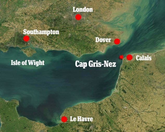 Mrs Taylor was initially rescued from Wissant Bay near Cap Gris-Nez on the French coast