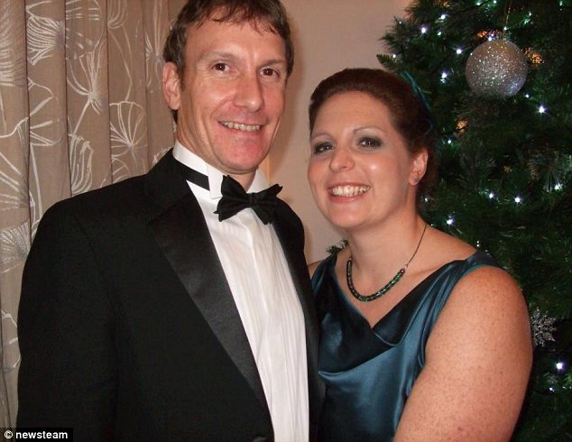 Devastated: Susan Taylor's husband Stephen (pictured at a Christmas party) was on the support boat