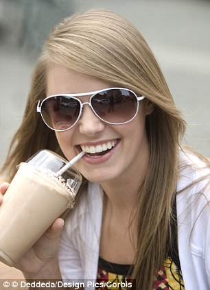 Not so sweet: Costa's Toffee Creamy Cooler contains the recommended daily amount of saturated fat for a woman in just a few sips