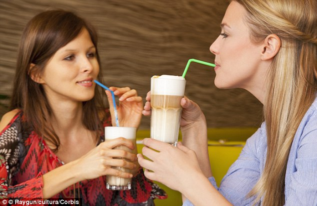Sugar bomb: An investigation has shown that iced coffees from high street coffee giants contain an alarmingly high amount of sugar