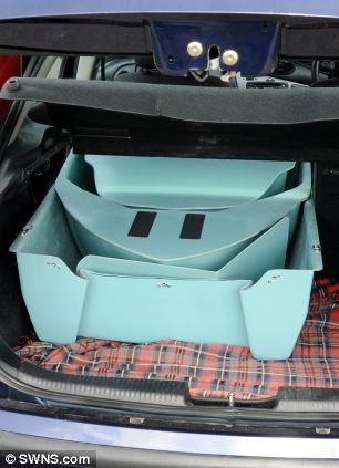 When folded, the Stakanoo can fit comfortably into a regular-sized car boot, pictured and because the boat only weighs 19kg, it can also be carried and assembled by a single person, without any specialist tools
