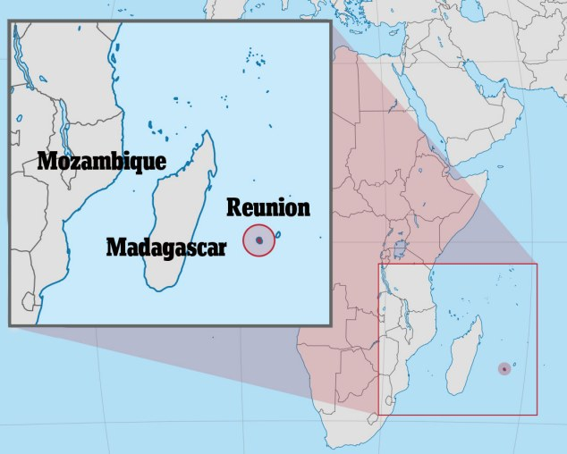 Paradise lost: The Island of Reunion is located in the Indian Ocean off the coast of Madagascar