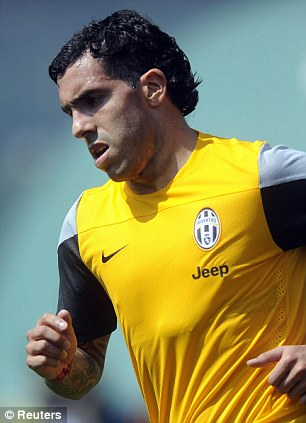 Missing man: Carlos Tevez has already completed a switch to the Italian club