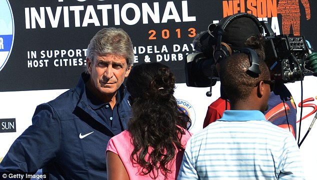 Shopping: New City manager Manuel Pellegrini is keen to strengthen his attacking options this summer