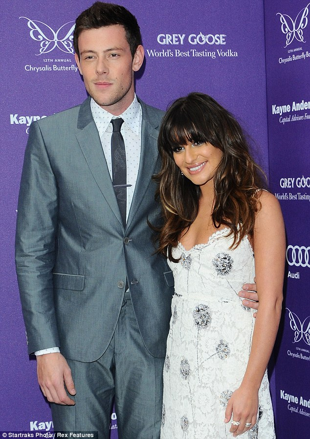 So young: Cory Monteith, pictured with Glee co-star and girlfriend Lea Michelle in June, passed away from a drug and alcohol overdose in Canada on 13 July