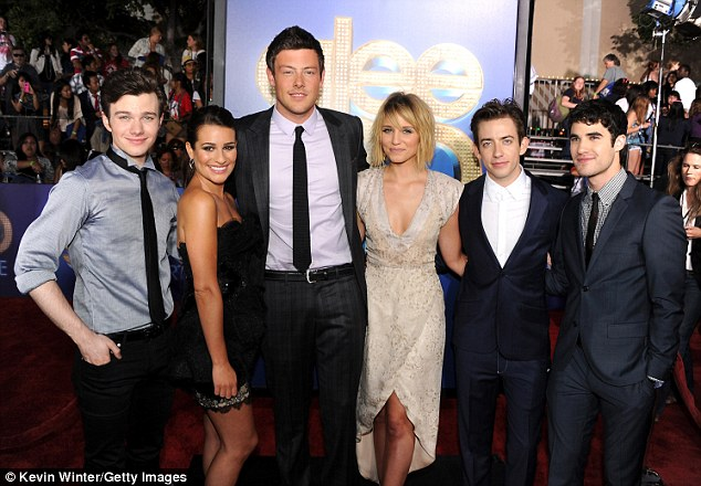 A friend in need: Monteith's Glee costars were allegedly aware of his substance abuse issues, though he entered rehab while filming season 4 in March