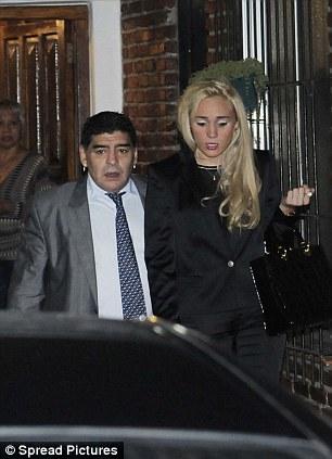 Diego Maradona and RocÌo Oliva