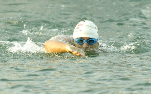 Fundraiser: David Walliams, pictured during his 2006 Channel swim, is believed to have donated £1,000