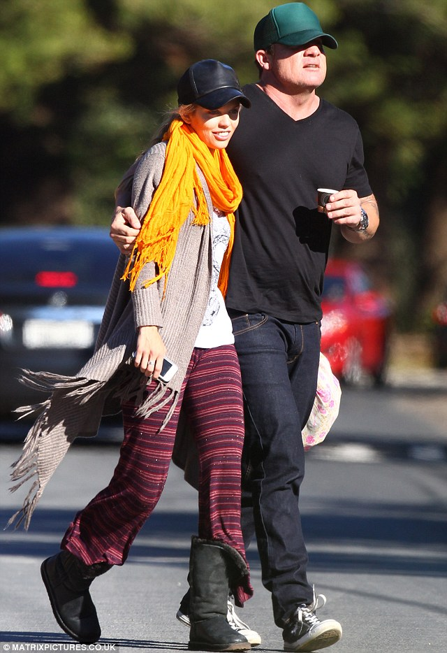 Couples retreat: AnnaLynn and her beau Dominic Purcell were recently together in Australia