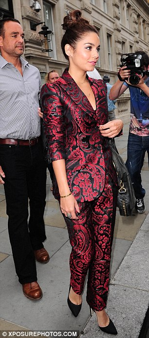 Making a statement: The 24-year-old actress appeared on Meet The Actor at the Apple Store in Regents Street on Tuesday