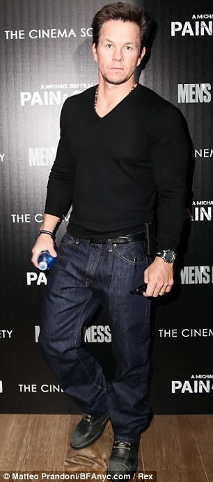 Highly ranked: Hugh Jackman and Mark Wahlberg came in third and fourth on the prestigious list
