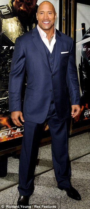 Solid as a rock: Dwayne Johnson scored fifth place thanks in part to Fast & Furious 6