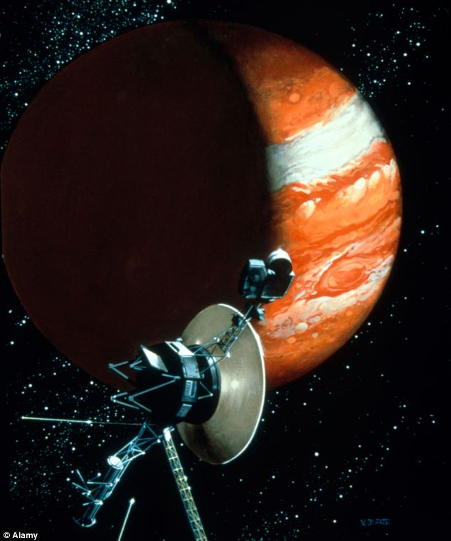 Our Voyager probe (pictured) uses a 'slingshots' around planets