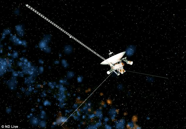 Our Voyager probe (pictured) has just reached the edge of our solar system