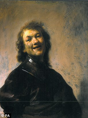 Export bar: The work, known as 'Rembrandt Laughing', is said to be a striking example of the Dutch artist's early paintings