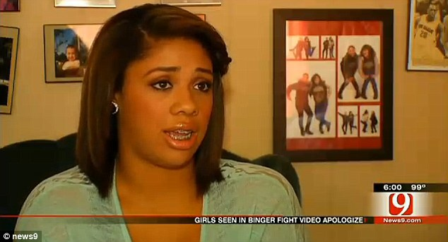 Regret: Aliyah White was contrite about her actions and said she wished she could talk it out with her former friend instead of resorting to violence