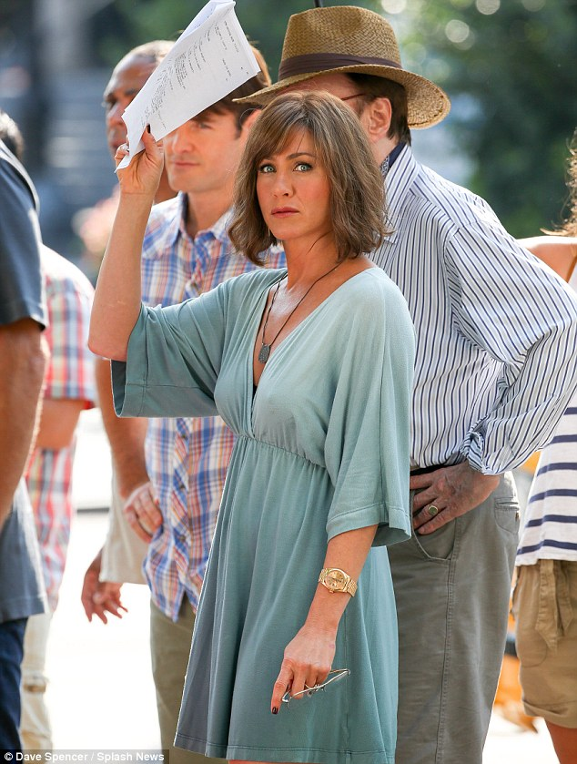 It has many uses: Jennifer held her script above her head to shield herself from the sun