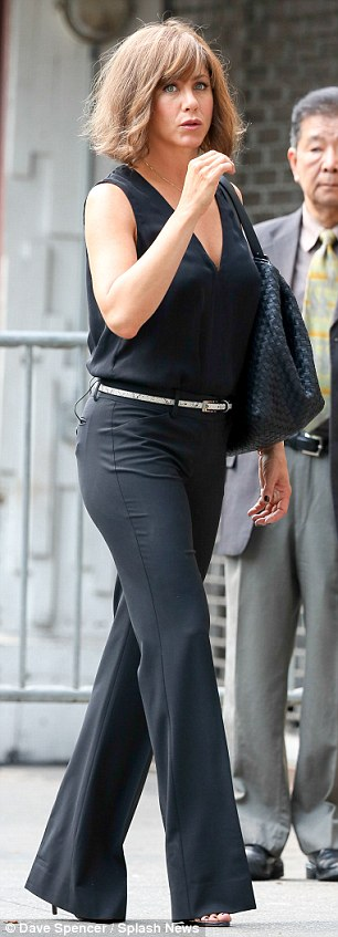 Transformer: Jennifer was later spotted looking sleek in an all-black ensemble as she shot another scene for the flick