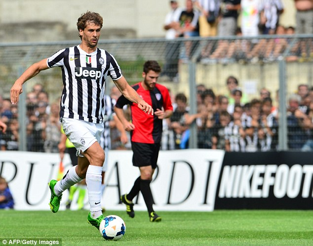 New pairing: Spanish striker Fernando Llorente was also making his debut alongside Tevez