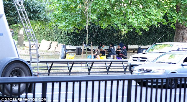 Home: Around 60 Romanian travellers have spent the past two nights sleeping around Park Lane, Marble Arch and Hyde Park