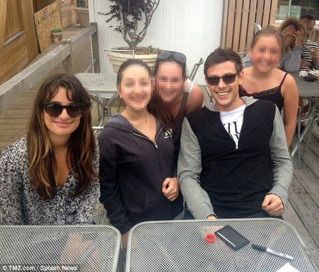 Last trip: A new photo has emerged showing Lea Michele on her final trip to Fire Island in New York with boyfriend Cory Monteith on June 18, before his tragic death