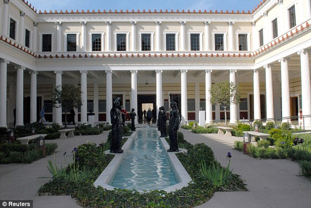 Bid: The painting was bought at an auction in May by the Getty Museum (pictured) of Los Angeles, California