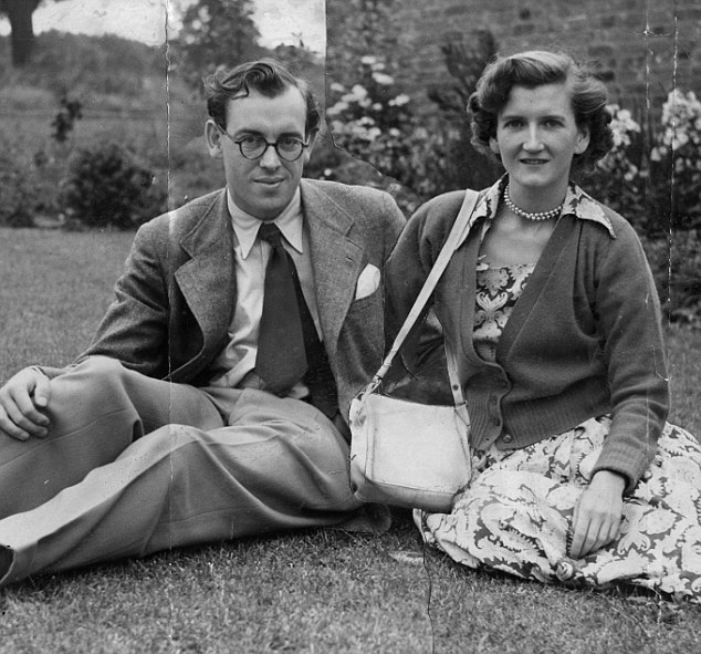 Margaret Elphinstone with her future husband Denys Rhodes - they went on to have four children