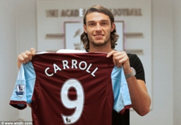 Permanent: West Ham broke their transfer record to keep Carroll at the club