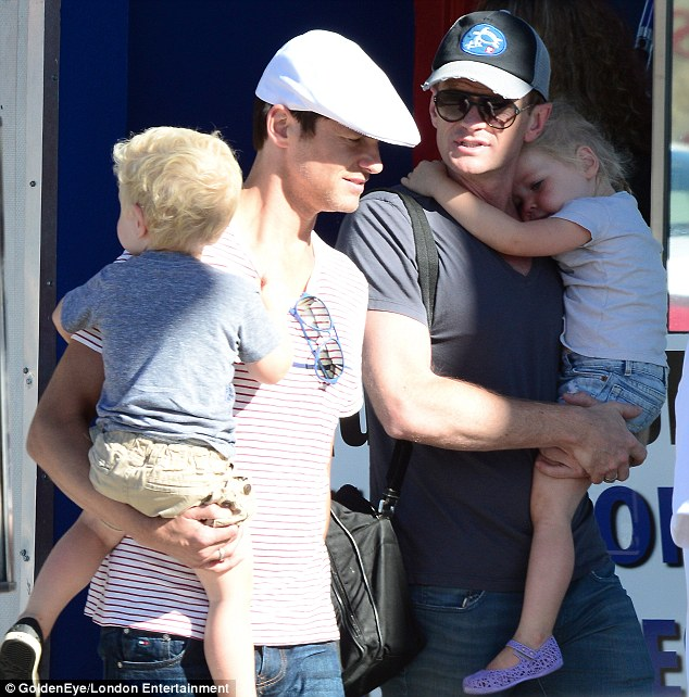 Close-knit: The two successful stars made time in their busy schedules to have a relaxing say out with their little ones