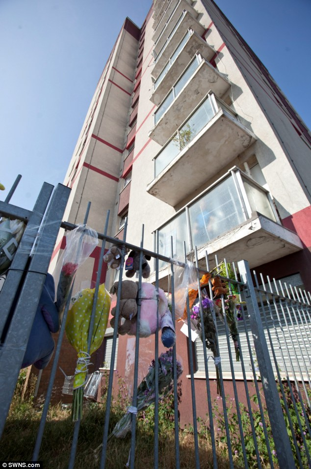 Shock: Neighbours told of their fears for their own children living in the flats