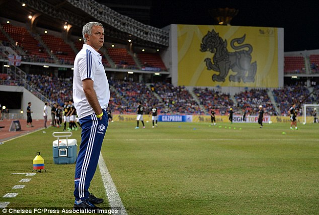 Second coming: Jose Mourinho was back in the Chelsea dug-out for the first time in 46 months