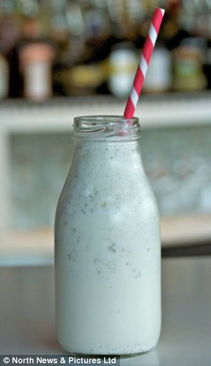 Something a little bit different: The Vanilla Chocolate Malt (left) is served in small pinta bottle at London's OXO Tower