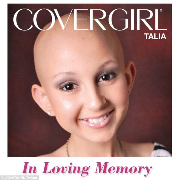 Touching the hearts of many: Talia was made an honorary CoverGirl last year on the Ellen show