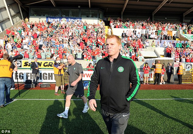 Gaffer: Celtic manager Neil Lennon praised his side as they triumphed 3-0 at Cliftonville