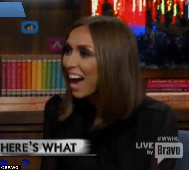 Good sport: Giuliana was cringing and laughing while watching herself