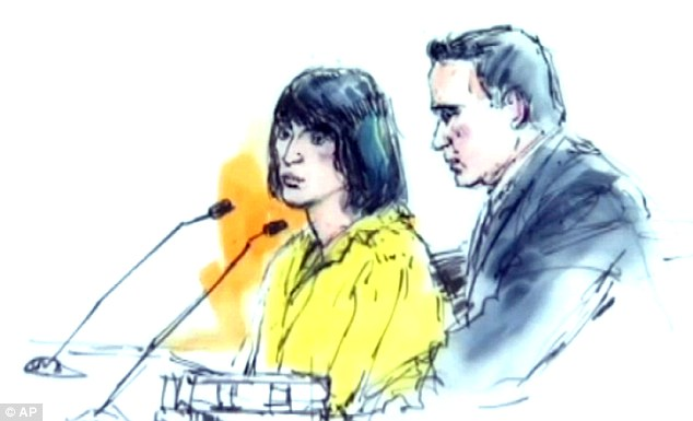 Waiting game: A judge will determine in September whether the teenager, pictured in this courtroom sketch, would be tried as a juvenile or as an adult