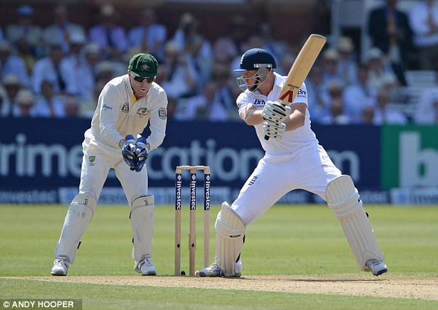 Go Jonny, go: Bairstow cuts a four into the off side