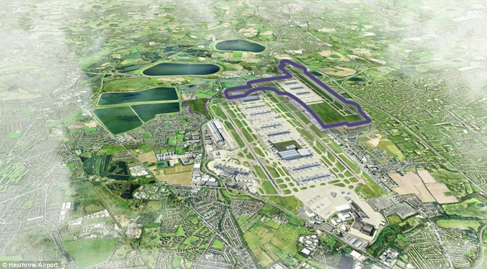 North west: This option would cost £17billion and be ready by 2026, but would require the demolition of 950 homes including two listed buildings